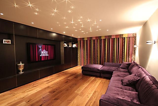 Basement Family Room2 Modern Heimkino Wiltshire Von