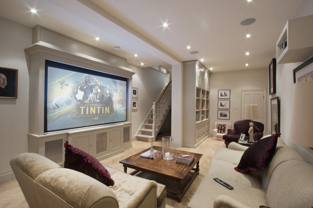 Elegant Home Theater Photo In London