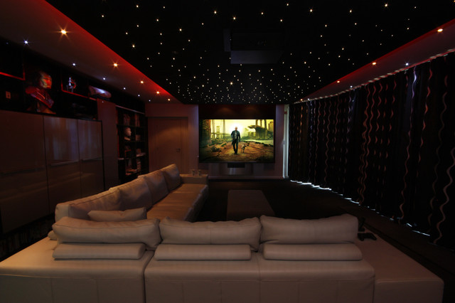 Cinema Room Contemporary Home Theater Other By Design By Light