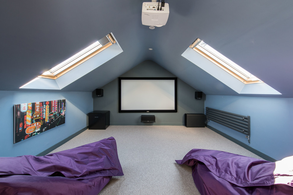 Cinema Room In The Roof Contemporary Home Theater Other By Wighton Architects