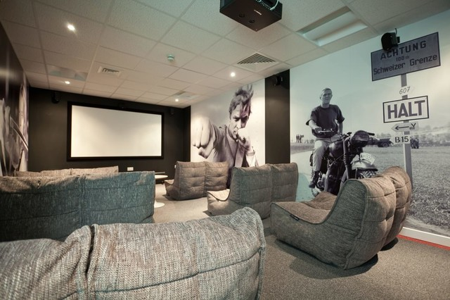 College Green University Cinema Room Bristol UK Contemporary Home Theater