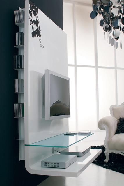 Contemporary TV Shelving Unit Contemporary Home Theater