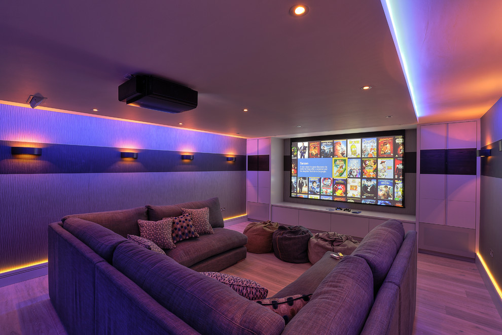 Family Cinema Room Contemporary Home Theater Kent By New