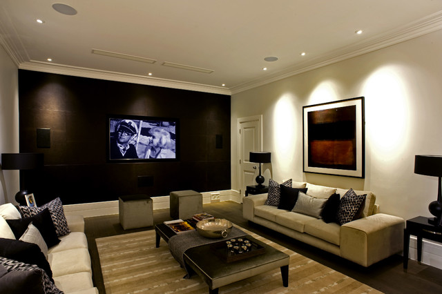 Inspired Lighting Solutions Contemporary Home Theater