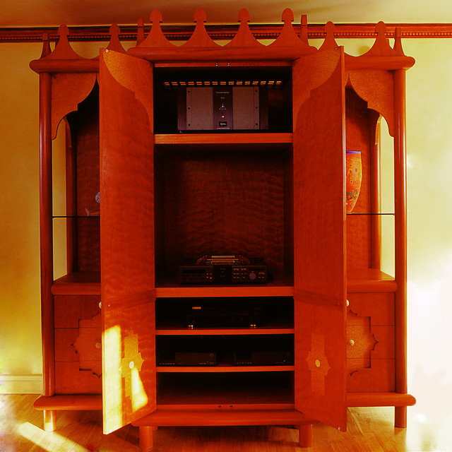 Moroccan Style Hi-fi Cupboard - Eclectic - Home Theater - other metro - by Tim Wood Limited