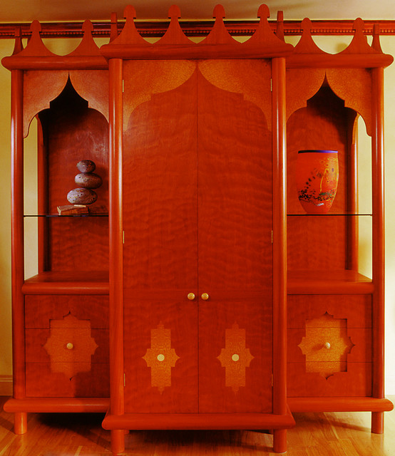 Moroccan Style Hi-fi Cupboard eclectic-home-theater