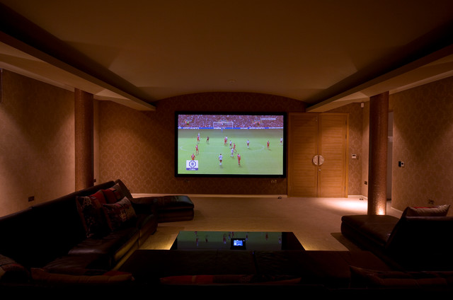 North London Family House contemporary-home-theater