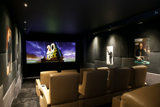 pudleston home cinema modern home theater london by finite solutions. Black Bedroom Furniture Sets. Home Design Ideas