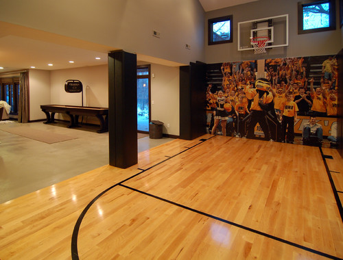 104 of the best man cave ideas to create the in house get away for Build indoor basketball court