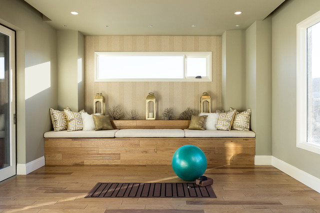 2014 new american home contemporary home gym las vegas by marc michaels interior design. Black Bedroom Furniture Sets. Home Design Ideas