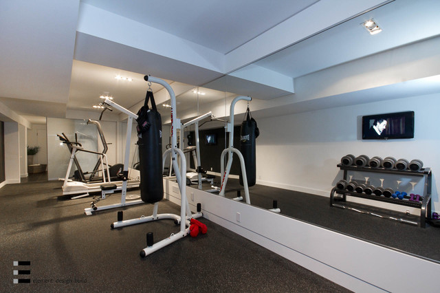 44 belvedere drive modern home gym toronto by element design build inc