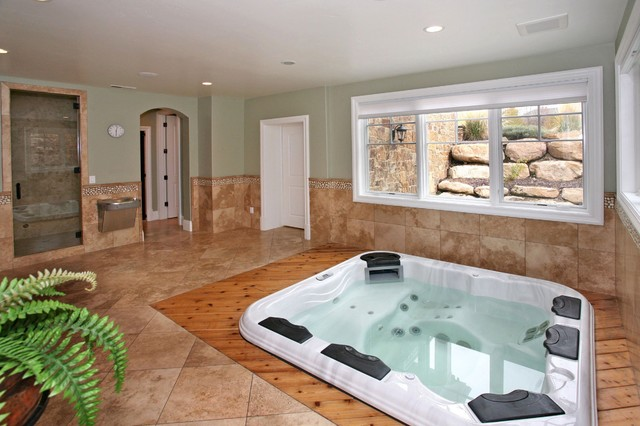 Alpine residence traditional home gym salt lake city by