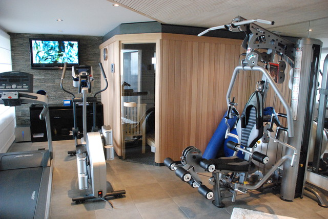modern home gym by Jules van de Ven