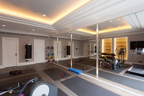 Contemporary Home Gym by South East Doors Strada London