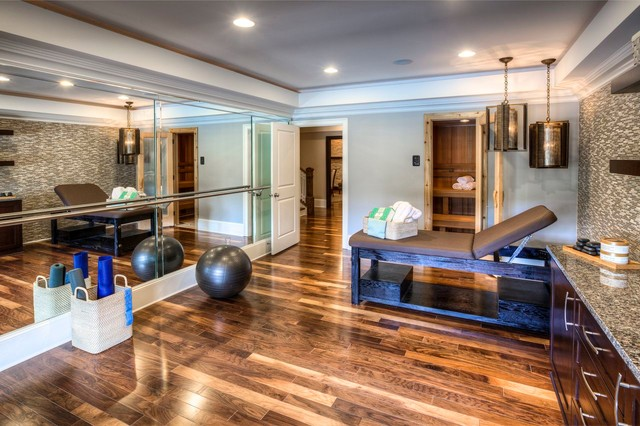 Ashton woods atlanta basements contemporary home gym