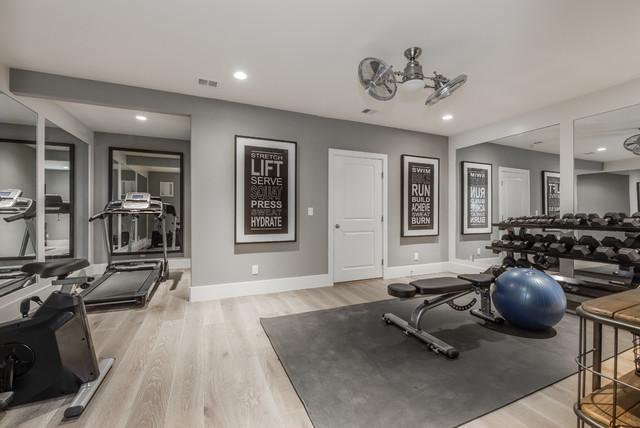 Aspen French House Plan klassisch-fitnessraum