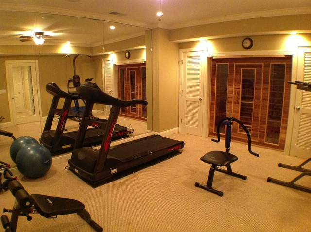 Atlanta Basement Traditional Home Gym Atlanta By