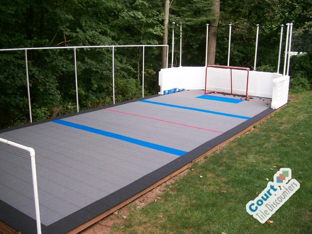 Backyard Hockey Rink Contemporary Home Gym Philadelphia By - Backyard roller hockey rink