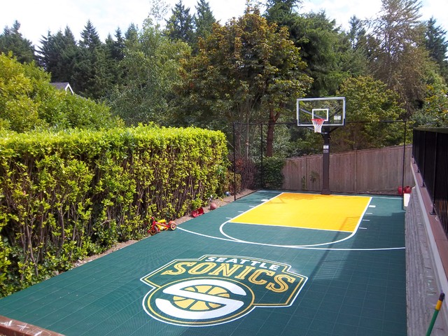 Backyard sport court outdoor products seattle by for Backyard sport court