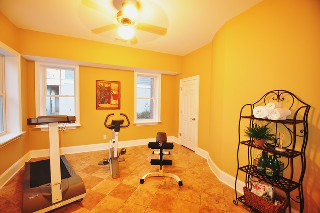 Bank Owned home in Hanahan traditional-home-gym