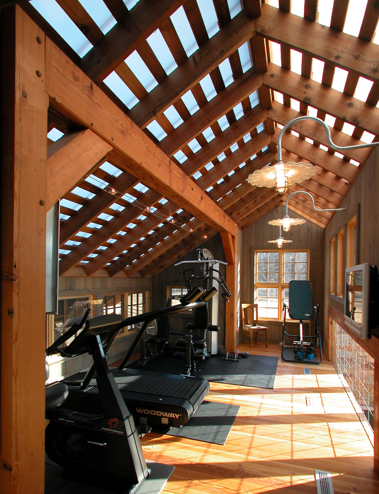 Home gym - cottage home gym idea in Other