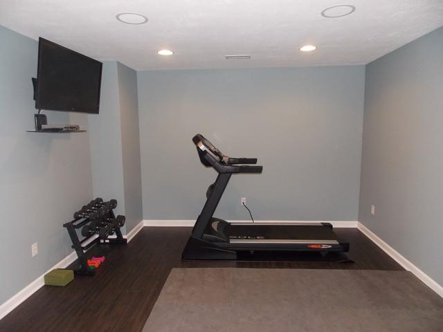 Basement exercise room for Basement workout room