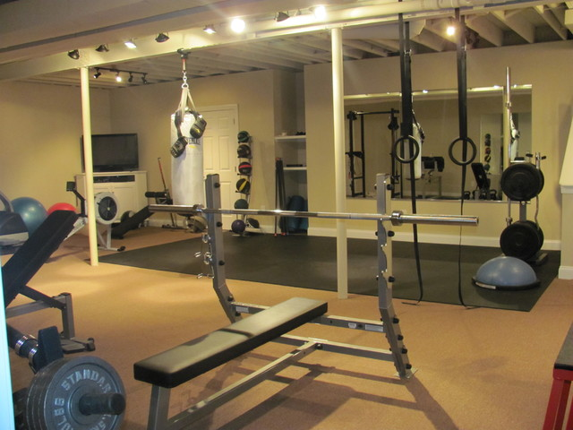 Basement gym contemporary home gym philadelphia by collier