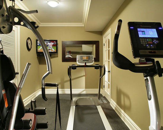 Small home gyms design ideas pictures remodel and decor for Small exercise room