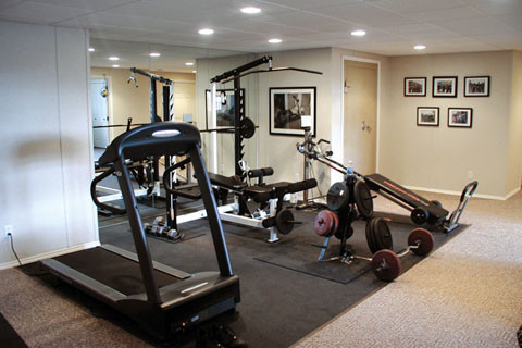 Basement Remodeling Projects executed by our TBF Dealers. eclectic-home-gym