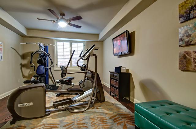 Basement Workout Gym Traditional Home Gym Denver