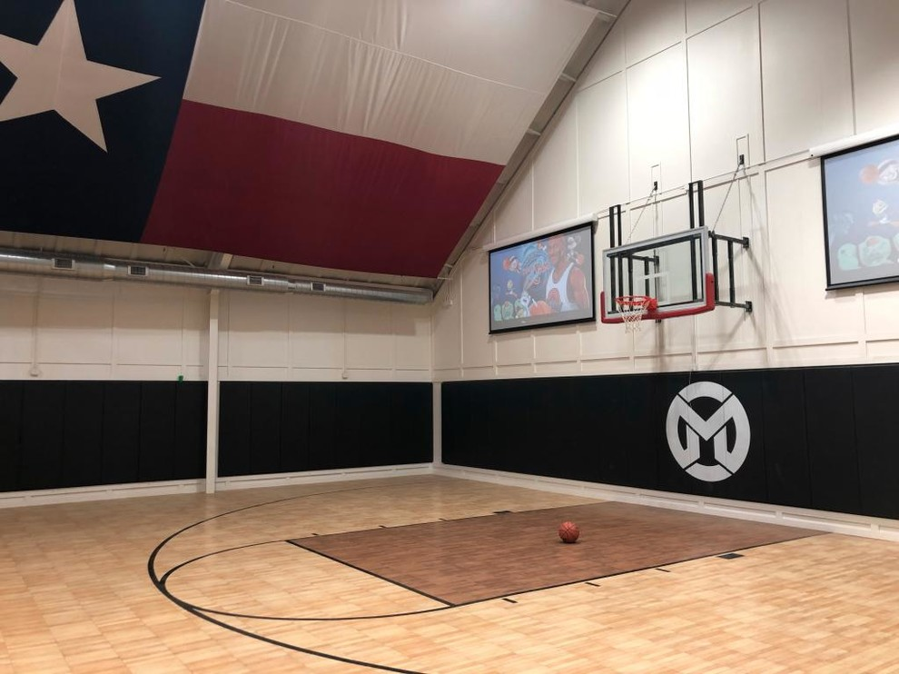 Basketball Court Wall Pads Home Gym Houston By Greatmats