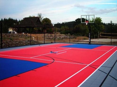 Basketball courts for Residential basketball court cost