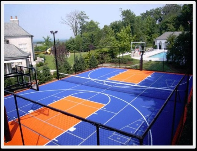 Basketball courts for Home basketball court cost