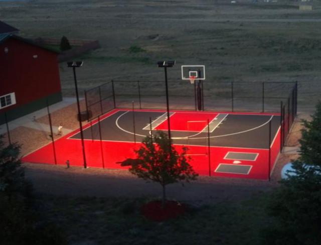 Basketball Courts traditional-home-gym