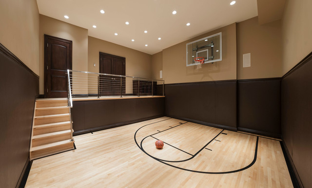 Bloomfield renovation contemporary home gym detroit