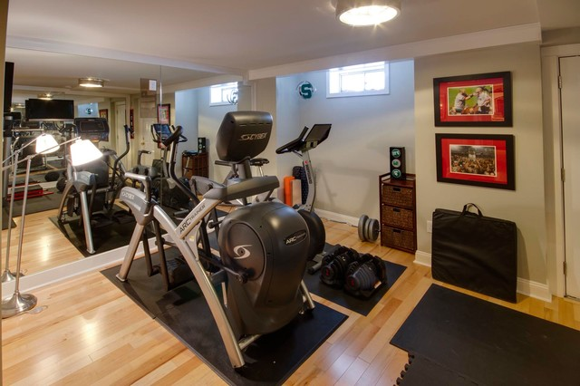 Bolton basement rumpus room gym and bar project traditional home gym boston by steven - Kids rumpus room ideas ...