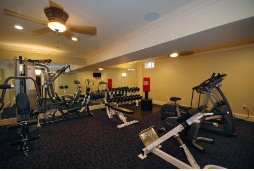 Boston Flooring Showroom traditional-home-gym