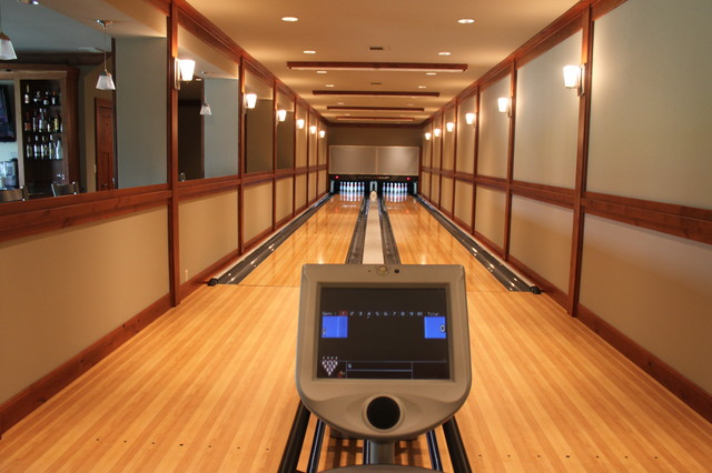 Bowling alley installation modern home gym seattle