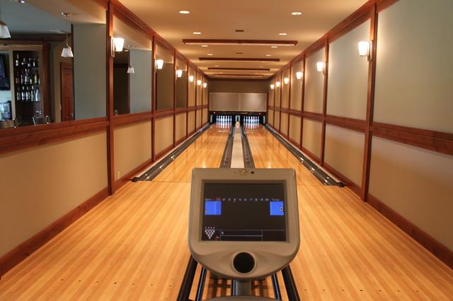Bowling Alley Installation Modern Home Gym Seattle
