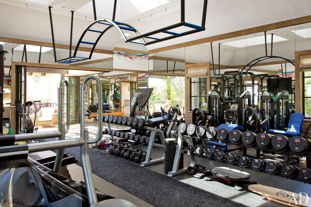 Brady residence traditional home gym new york by optimum