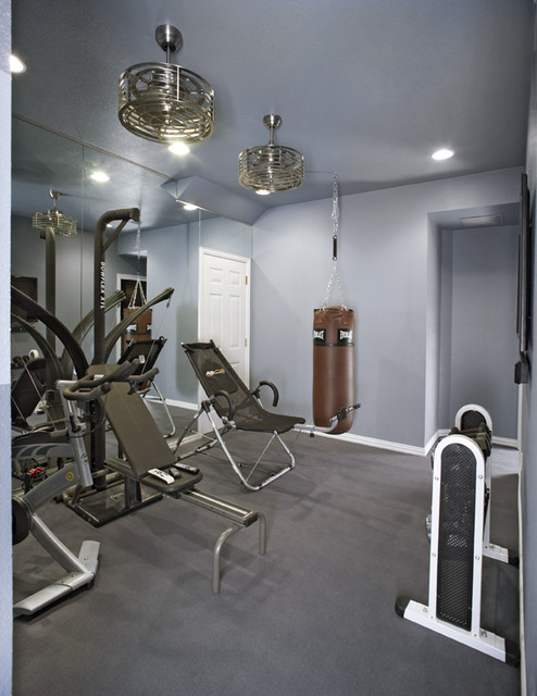 Contemporary Home Gym by Graf Developments