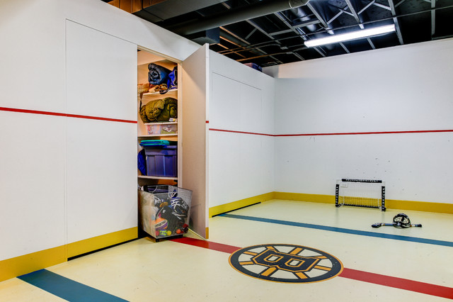 Bruins basement traditional basement chicago by for Bruins bedroom ideas