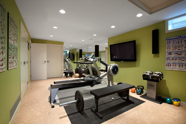 Canterbury midcentury home gym vancouver by cci renovations - Cool home gym decorating ideas ...