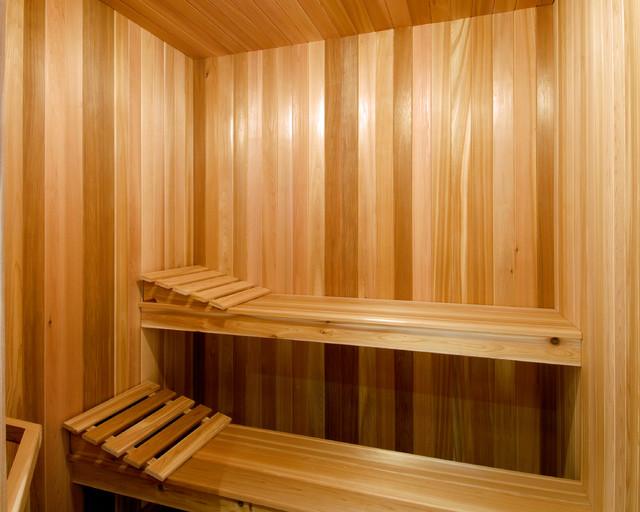 Central ottawa residence contemporary home gym for Building a sauna in the basement