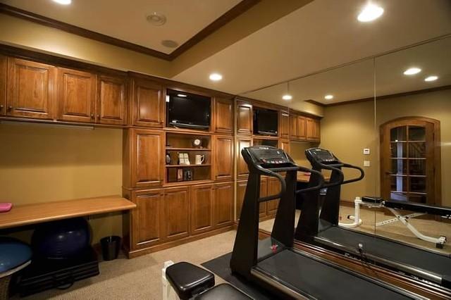 Chanhassen Custom Home traditional-home-gym
