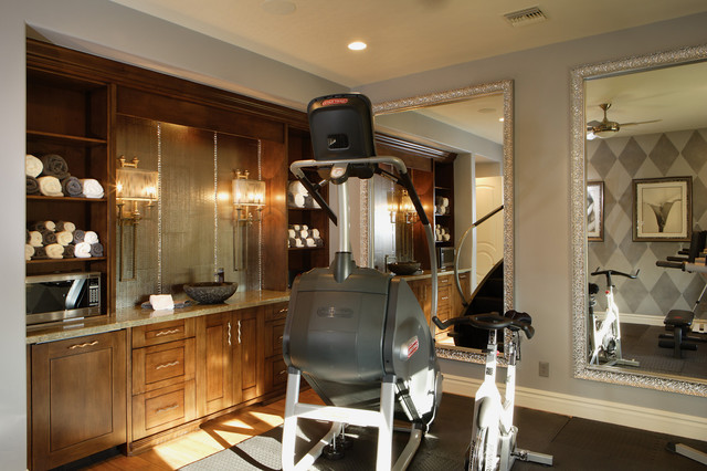 chic luxury traditional home gym other by guided home design