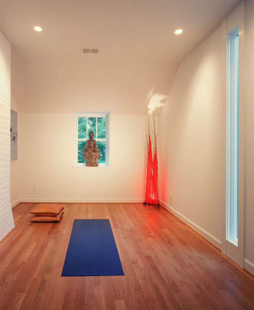 Home Yoga Room Design interior modern home yoga room design with dark brown best vinyl bedroom inspiring for small furniture 7 Yoga Rooms That Will Instantly Relax You Photos
