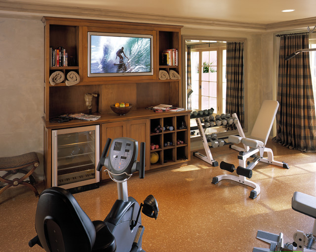 traditional home gym by reaume construction design - Home Gym Design Ideas