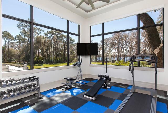 Contemporary Home Gym contemporary-hemmagym