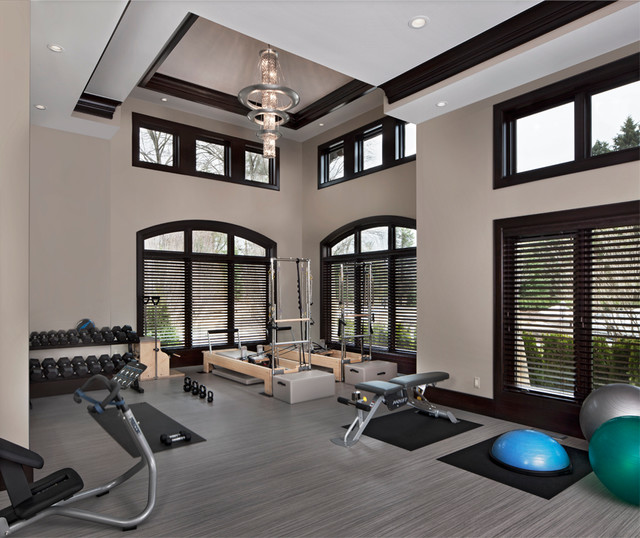 Cranbrook custom homes luxury home architecture for Luxury home gym